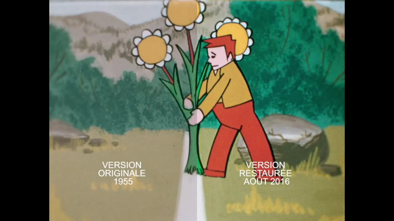 La restauration du Village enchanté - Court documentaire expliquant le processus de restauration du premier film d'animation québécois et canadien, Le village enchanté.